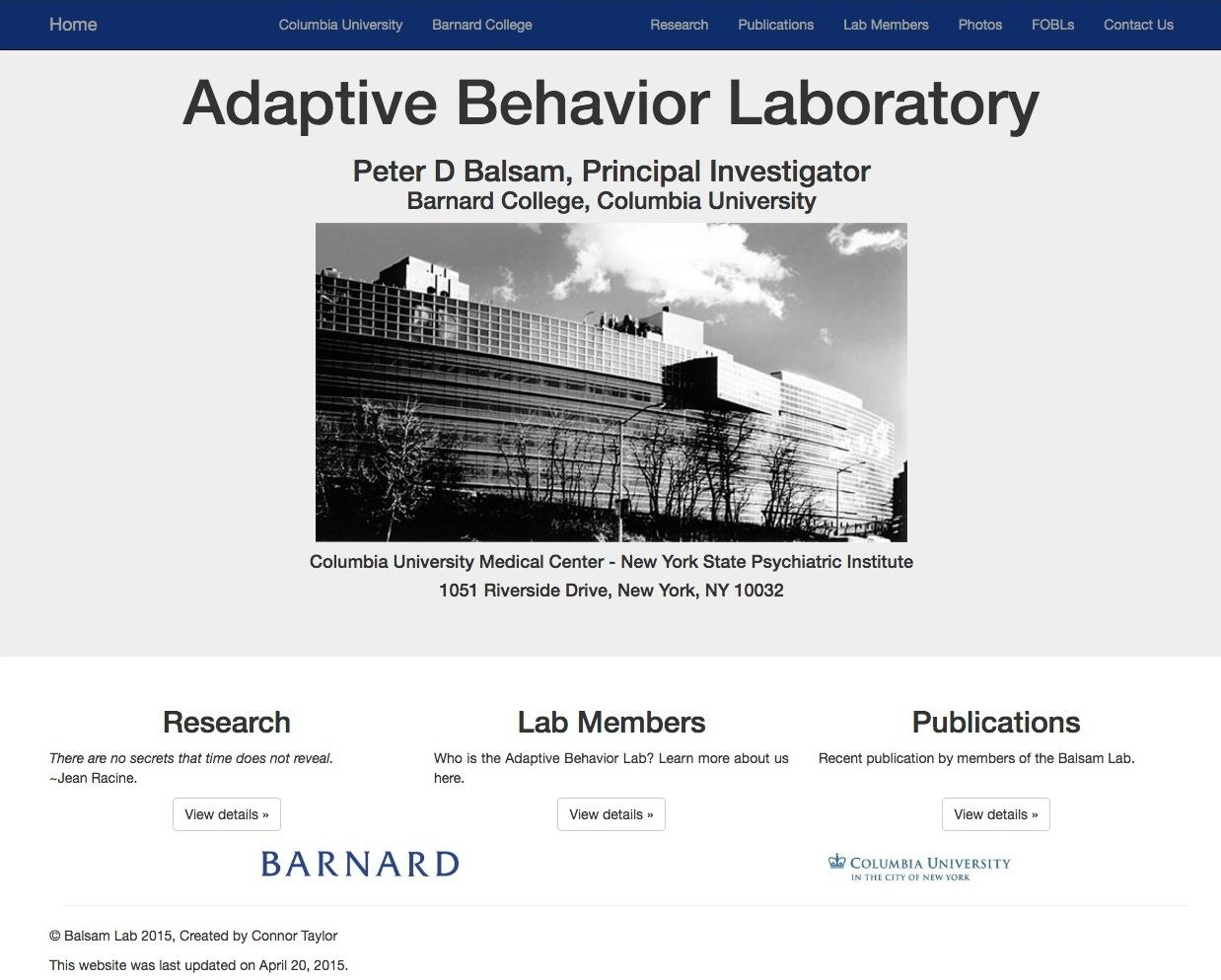 Balsam: Adaptive Behavior Lab