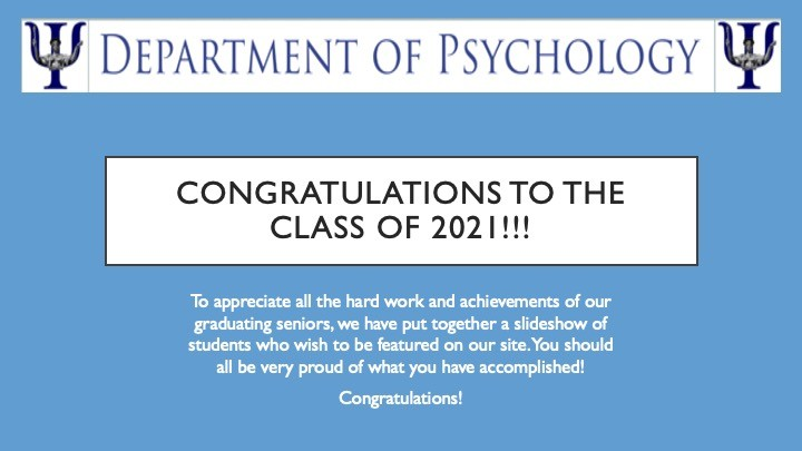 Congratulations to the Class of 2021!